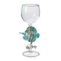 Angel Fish Wine Glass