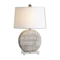 black and white textured lamp