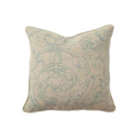 blue scroll pillow