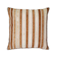 brown hide striped pillow