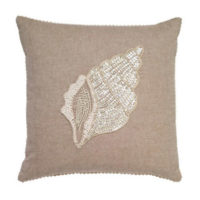 conch beaded pillow