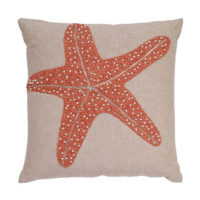 coral starfish pillow