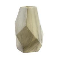 Gray & White Geometric Vase