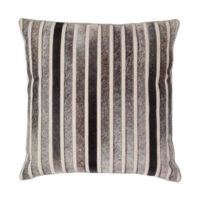 Grey Hide Striped Pillow