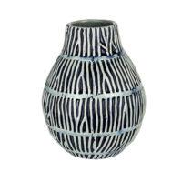 light blue coral branch stripes vase a