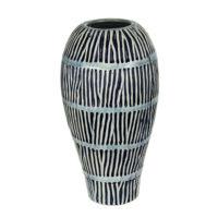 light blue coral branch stripes vase b