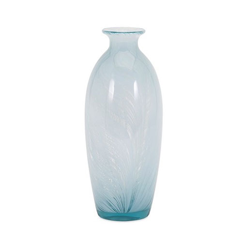 Large Light Blue White Swirl Vase Details Of Design