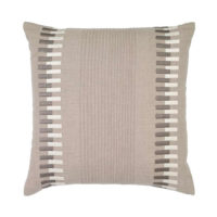 linen zipper embroidery pillow