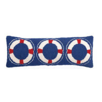 nautical ring hooked pillow