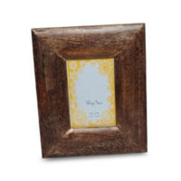 natural wood frame with gold