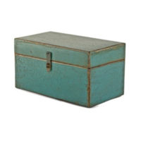 painted teal box