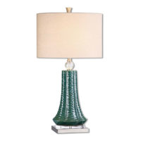 teal textured table lamp